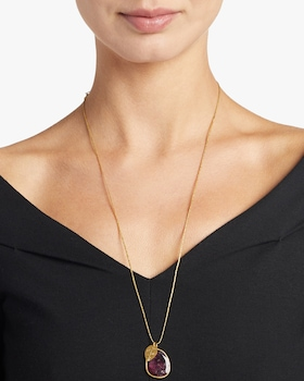 Gold Leaf Colette Pendant Necklace