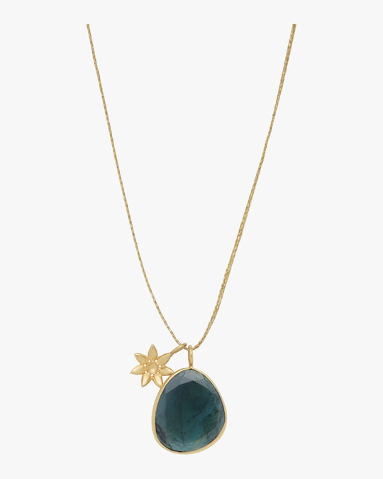Pippa Small Gold Flower Colette Pendant Necklace 0