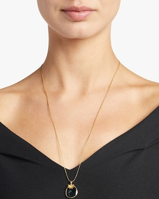 Pippa Small Gold Flower Colette Pendant Necklace 2