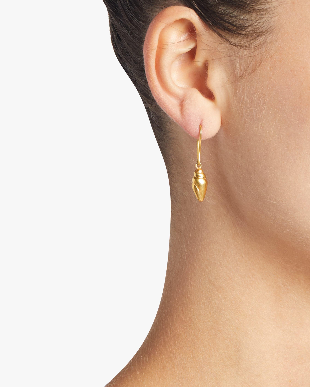Pippa Small Burmese Shell Earrings 2