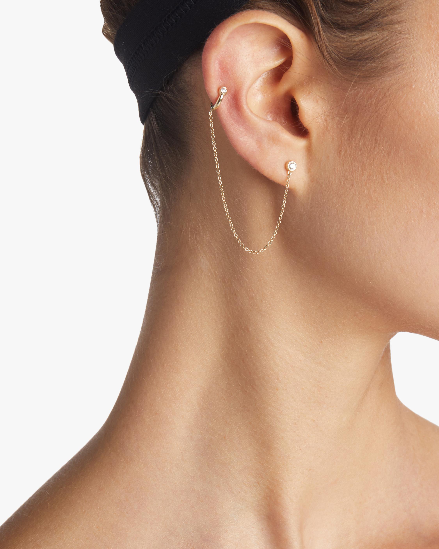 Chain Cuff Diamond Earrings