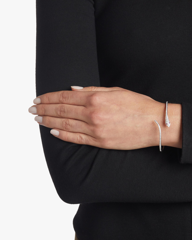 Diamond Snake Bangle Bracelet