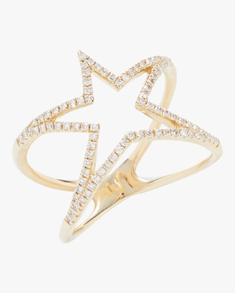 Open Star Diamond Ring