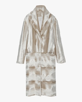 Deutzia Velvet Textured Coat