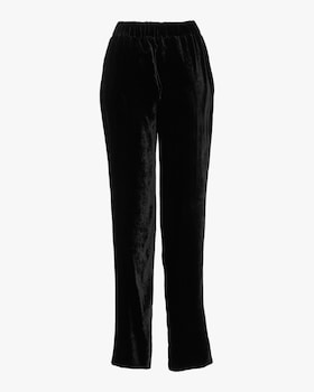 Peony Silk Velvet Easy Fit Pants