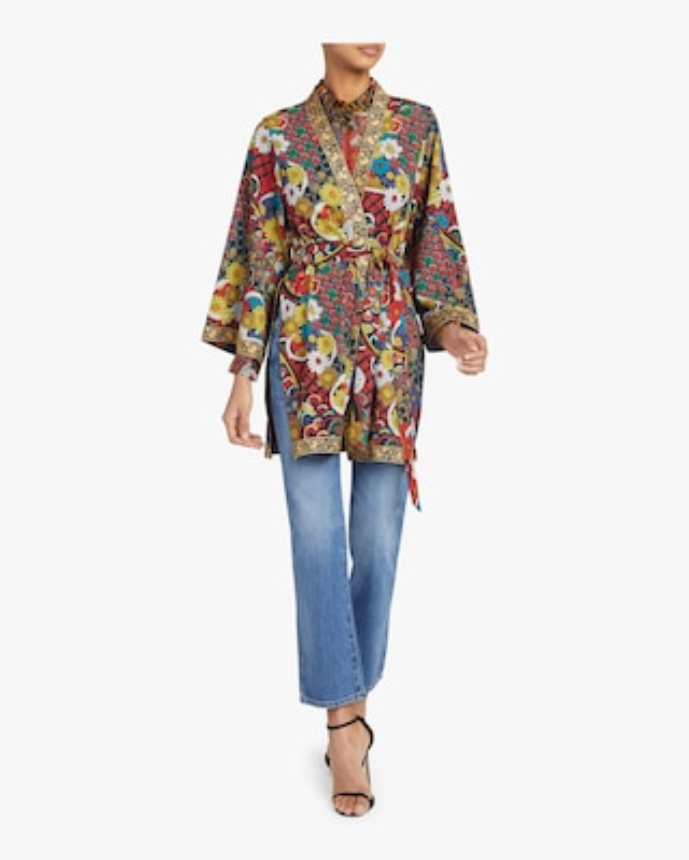 Lynn Short Side-Slit Kimono