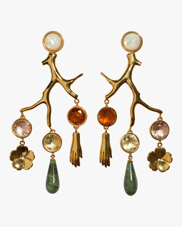 Lizzie Fortunato Relic Chandelier Earrings 0
