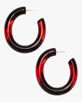 Wine Rome Hoop Earrings