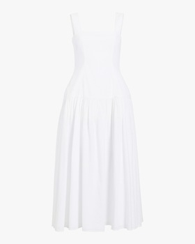 Eyelet Sleeveless Maxi Dress