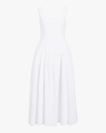 Eyelet Sleeveless Maxi Dress