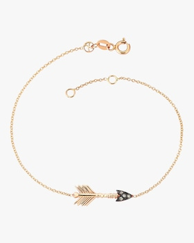 Arrow Champagne Diamond Solitaire Bracelet