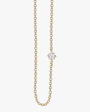 Princess-Cut White Diamond Floating Necklace