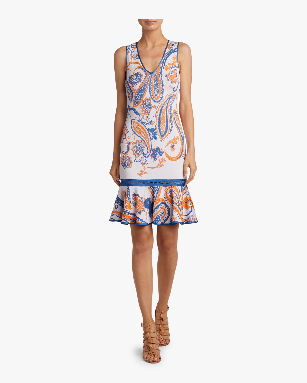 Roberto Cavalli Paisley Jacquard Crochet Dress 1