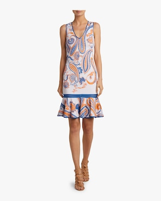 Paisley Jacquard Crochet Dress