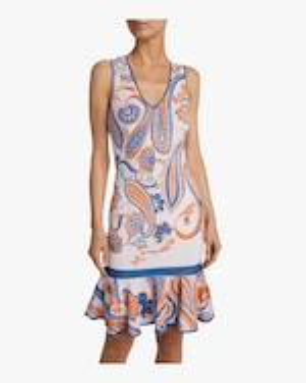 Roberto Cavalli Paisley Jacquard Crochet Dress 2