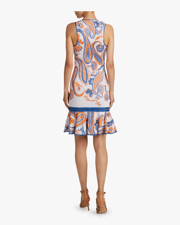 Roberto Cavalli Paisley Jacquard Crochet Dress 3