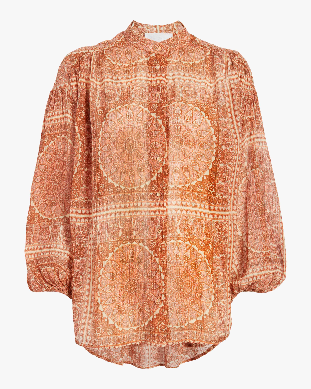 ZIMMERMANN Primrose Crinkle Shirt 0