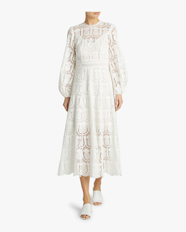 Wayfarer Embroidered High Neck Dress