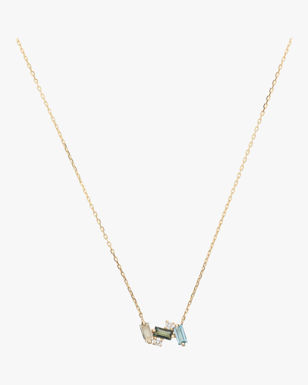 Bloom Swiss Blue Topaz Necklace