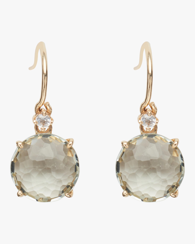 Gold Classics Green Amethyst Earrings