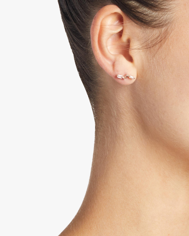 Rose Gold Topaz Earrings