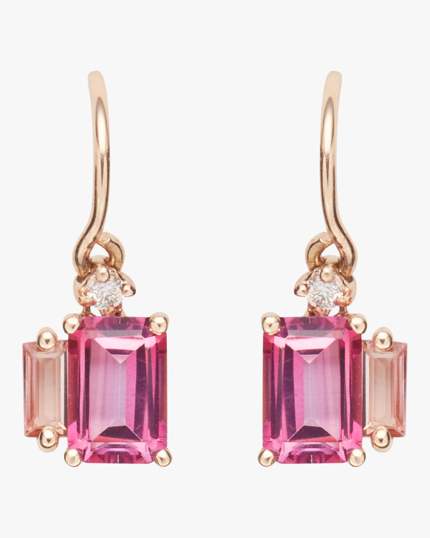 Bloom Pink Topaz Earrings