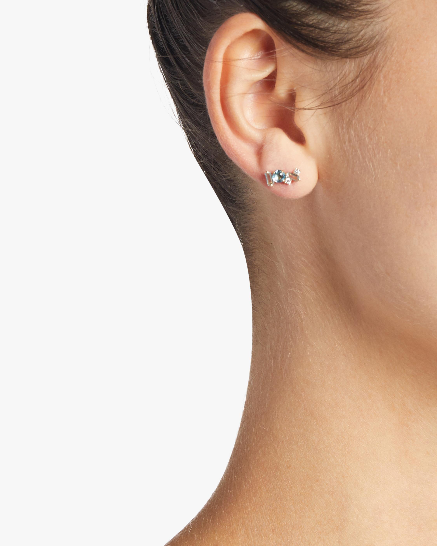 Bloom Swiss Blue Topaz Earrings