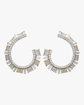 Slice Diamond Hoop Earrings