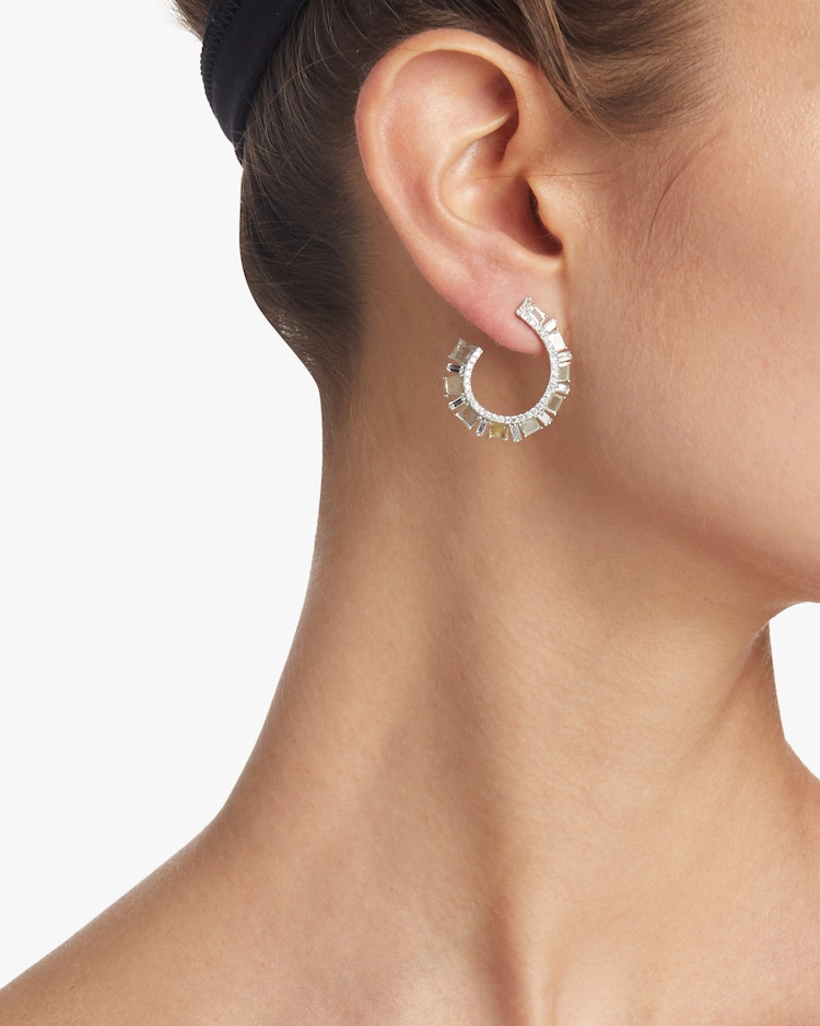 Slice Diamond Hoop Earrings Nina Runsdorf