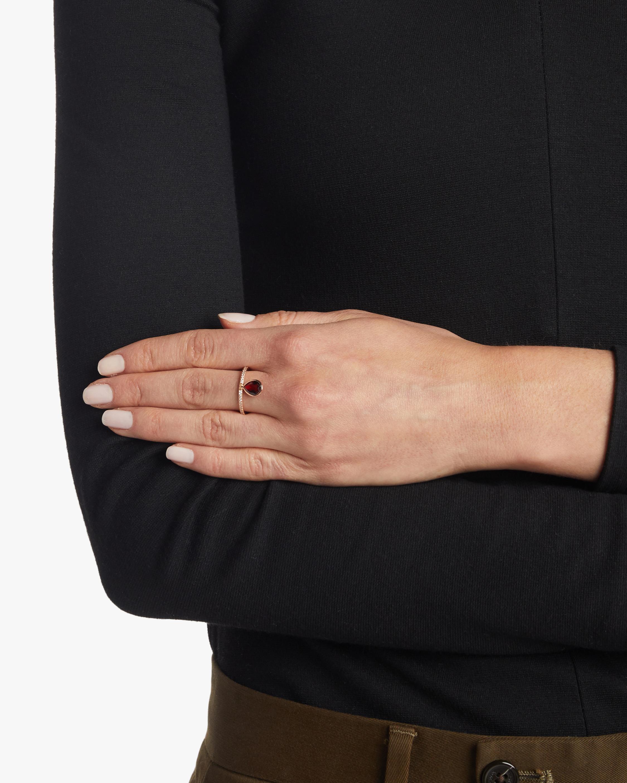 Mini Garnet Flip Ring