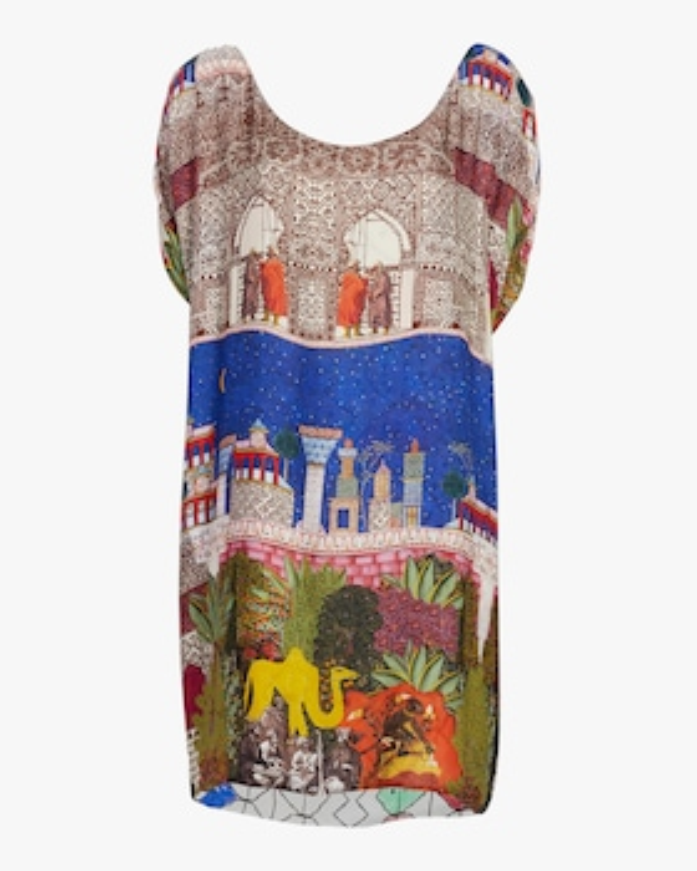 Camel Reversible Short Dress