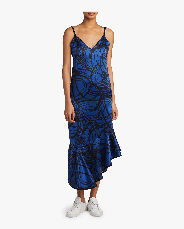 aaizél Kodiak Silk Slip Flounce Dress 2