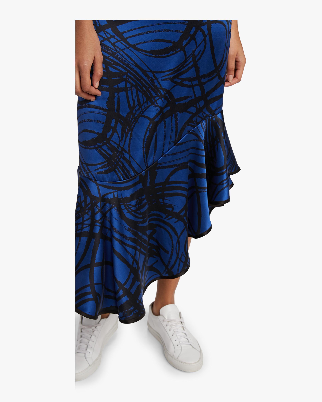 aaizél Kodiak Silk Slip Flounce Dress 3