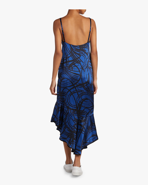 aaizél Kodiak Silk Slip Flounce Dress 4