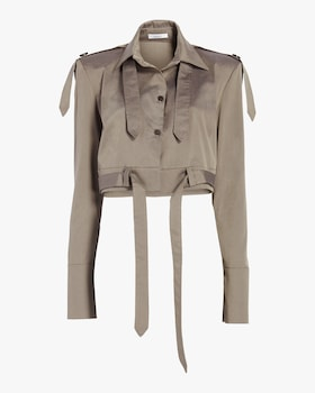 Luca Strong Shoulder Crop Jacket