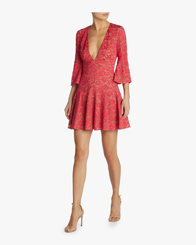V-Neck Bell Dress