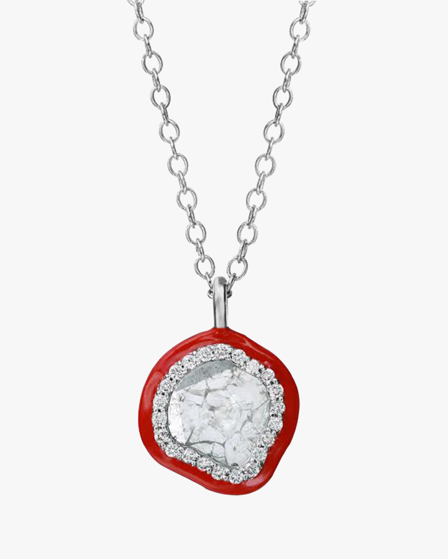Enameled Slice Diamond Necklace