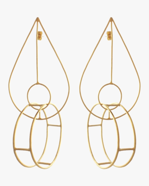 Circle in Teardrop Earrings