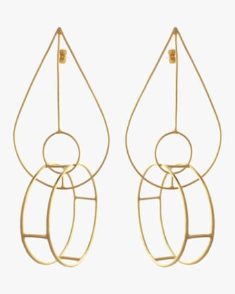 Circle in Teardrop Earrings