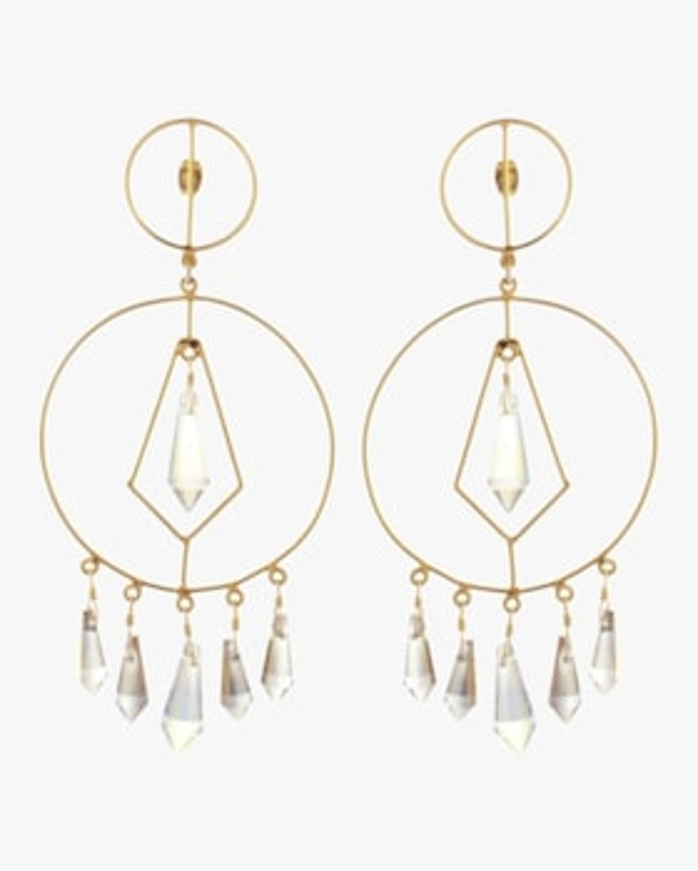 Diamonds in Circle Crystal Earrings