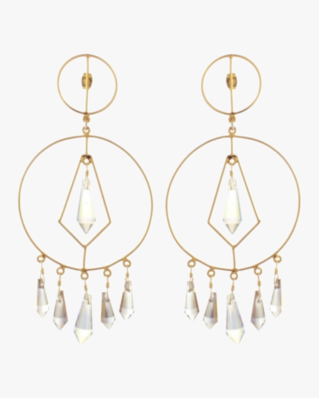 Mercedes Salazar Diamonds in Circle Crystal Earrings 2
