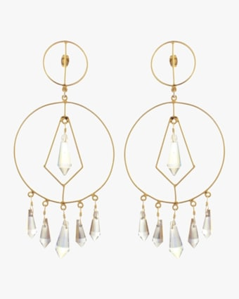 Mercedes Salazar Diamonds in Circle Crystal Earrings 2