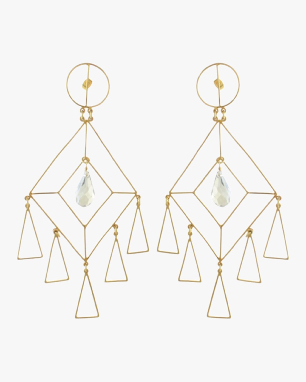 Mercedes Salazar The Girl Crystal Earrings 2