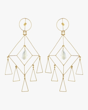Mercedes Salazar The Girl Crystal Earrings 2