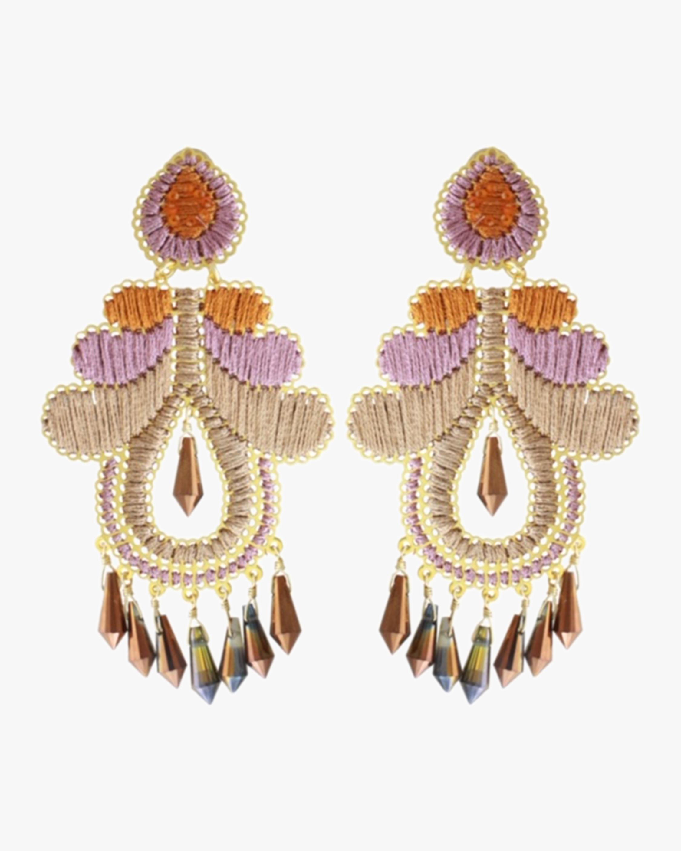 Rose Crystal Curubas Earrings