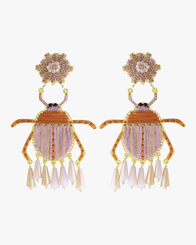 Rose Escarabajo Crystal Earrings