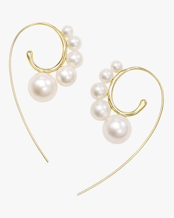 Nova Freshwater Pearl Threader Earrings
