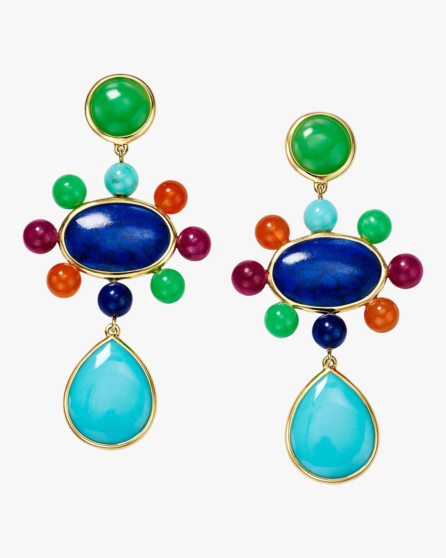 Nova Satellite Beads Post Drop Earrings