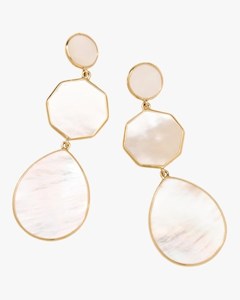 Crazy 8 Mother of Pearl Earrings