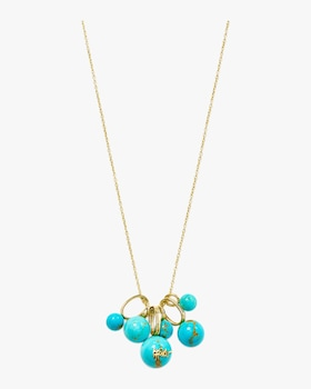 Nova Turquoise Bead Cluster Necklace